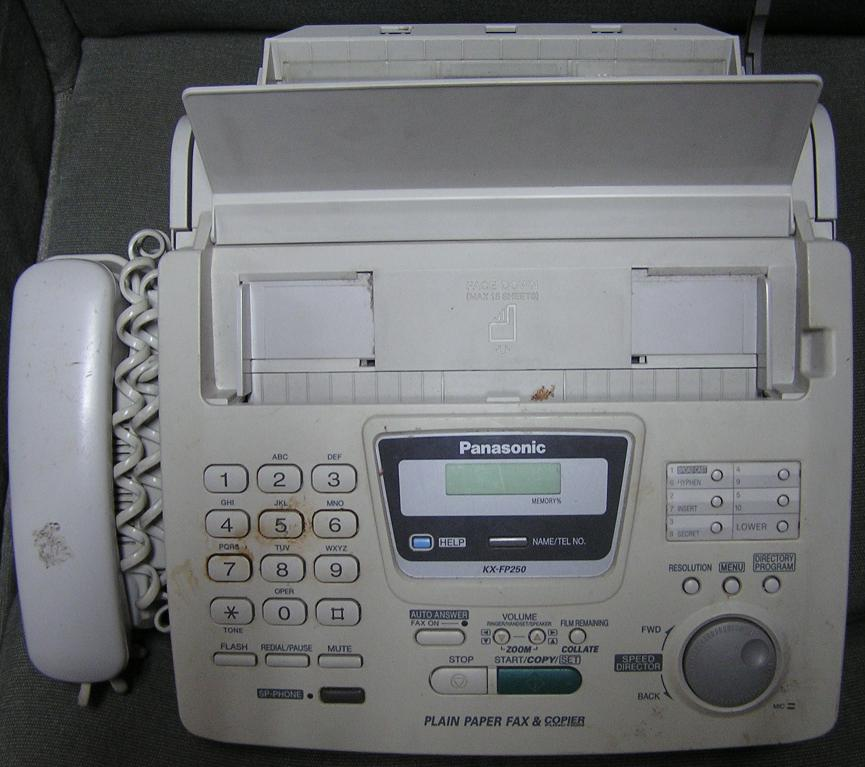 Panasonic KX-FP250 plain paper thermal fax machine