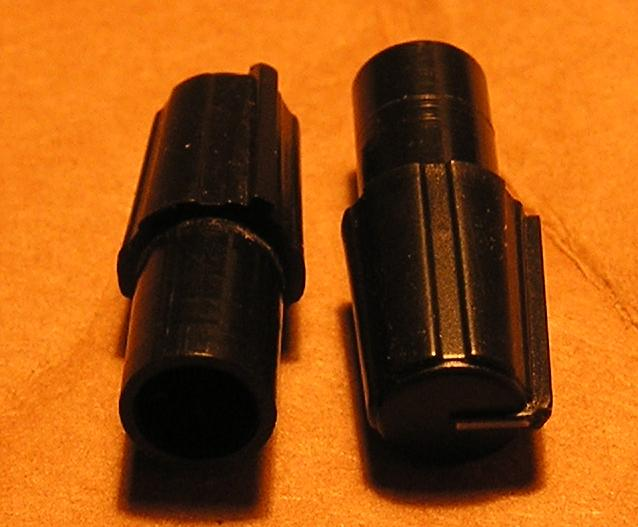 "Tuning knobs, black 1""x0.4"""